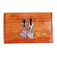 Chinese Style Wooden Card Holder Beauty