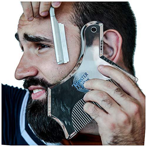 herramienta para moldeado de barba Monster&son transparente