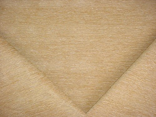 193H13 - Butter / Cinnamon Strie / Stria Plains Chenille Upholstery Drapery Fabric - By the Yard