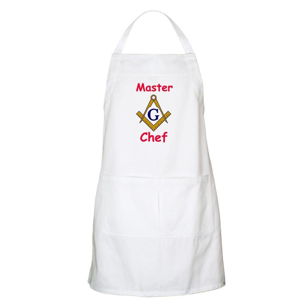 CafePress – マスターシェフBBQエプロン – キッチンエプロンポケット付き、グリルエプロン、Bakingエプロン 005853391433332  ホワイト B073W3PFS4