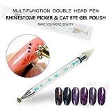 Renovatio Nails - BNG Two Way Crystal Nail Rhinestone Art Pen Wax Picker Pencil Flower Cat Eye Magnet Stick Manicure DIY Tool