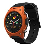 KOBWA Q8 Smart Watch Outdoor Waterproof Sport Smartwatch with Heart Rate Monitor,Pedometer, Barometer/Altitude/Temperature Sensor for IPhone Android Samsung Galaxy Note