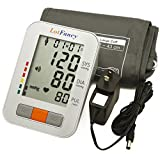 LotFancy Large Cuff Blood Pressure Monitor with Adapter & Talking Function, 2 User Mode, Irregular Heartbeat Detector, 4 Inches LCD, FDA Approved (Talking + Adapter + L Cuff 13-17')