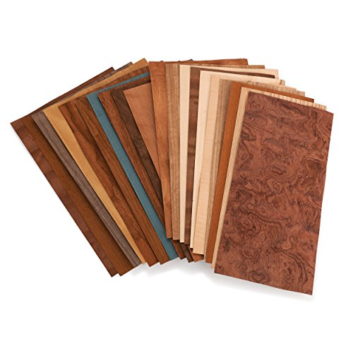 Sauers Mixed Variety Domestic & Exotic Veneer Pack, 10 sq ft Pack ()
