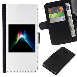 KLONGSHOP // Tirón de la caja Cartera de cuero con ranuras para tarjetas - Misterio Negro minimalista blanca profunda - Samsung ALPHA G850 //
