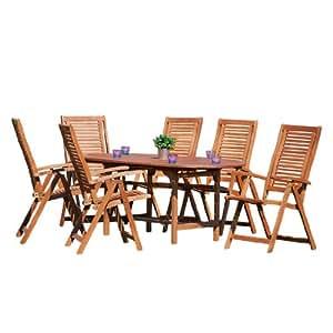MERXX–Muebles de Jardín Asiento Grupo Cordoba 7piezas)