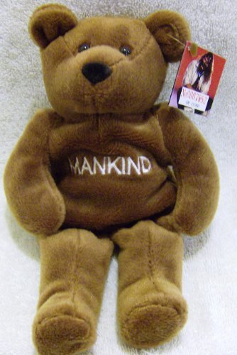 WWF Attitude Bears ''Mankind-Mr. Socko'' 9 Inch Plush Bean Bear by WWE