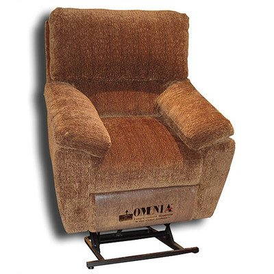 Cordova Lift Chair with Recline Nailhead: Brass Round Medium - Touching, Leather: Empire - Chocolate (Cordova Chocolate)