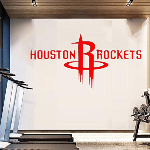 YXWYL Houston Rockets NBA Logo Wall Art Sticker Calcomanías ...