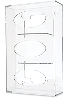 Clearform ML7100 Clear Acrylic Tube Rack with 9 Compartments 16 H x 12 W x 5.5 D 16 H x 12 W x 5.5 D MarketLab Inc.