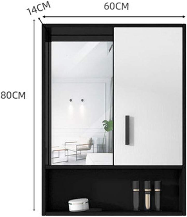 Armarios con espejo Negro Deslizable con Espejo Gabinete ...