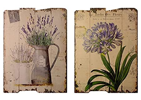 Amazon.de: Decobay.eu Wandbilder Küche Set Lavendel Gießkanne Blumen ...