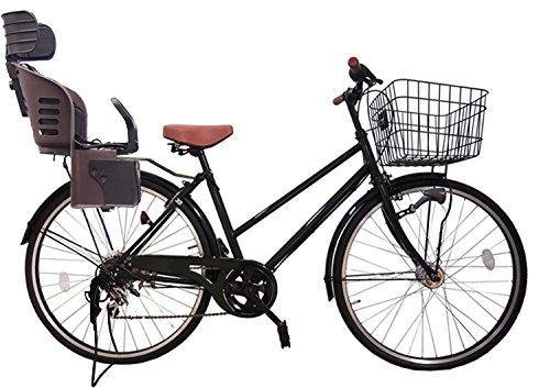 Lupinusルピナス 自転車 26インチ LP-266TA-knrj-br シティサイクル シマノ製外装6段ギア オートライト 樹脂製後子乗せブラウン B073LLRNB9ブラック