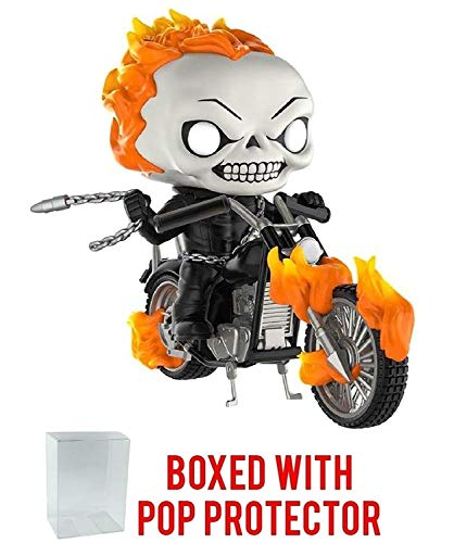 - Funko Pop! Rides: Marvel Classic Ghost Rider with Motorcycle PX Exclusive Vinyl Figure (Bundled with Pop Box Protector Case)