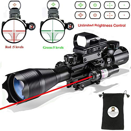Scope Combo C4-16x50EG with  4 Holographic Red&Green Dot - 597 Scope Remington Mount