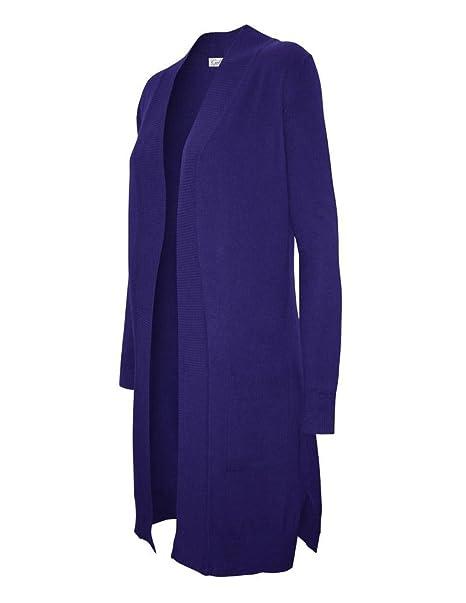 Amazon.com: Cielo de la mujer Long Open chaqueta de punto ...