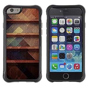 "Pulsar iFace Series Tpu silicona Carcasa Funda Case para Apple iPhone 6+ Plus(5.5 inches) , Rústico Oscuro Pastel Colores Patrón"""