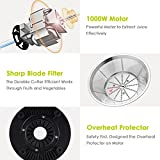 AICOK Juicer Juice Extractor Centrifugal Juicer Machine Wide Mouth 76MM Whole Fruit Vegetable Juicer Juice Jug Cleaning Brush, Anti-drip Function,1000W