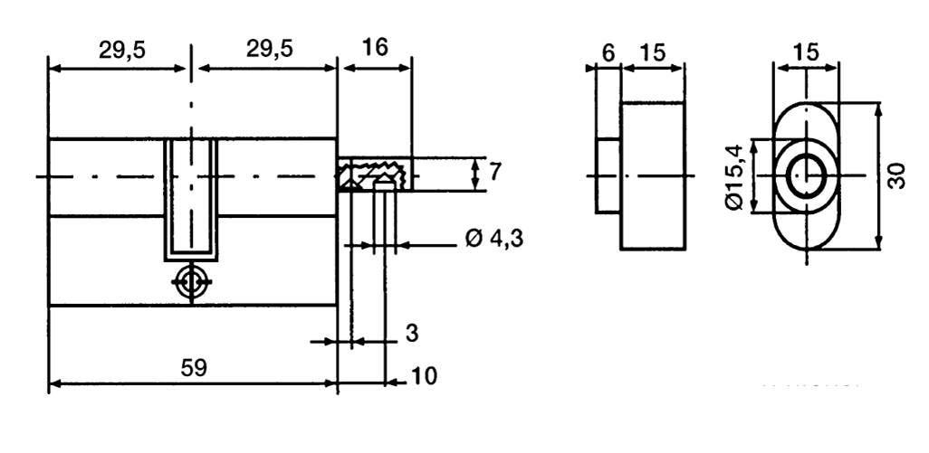 Bricard 18004 Cylindre de serrure double entr/ée Serial Xp 40+40 Nickel/é