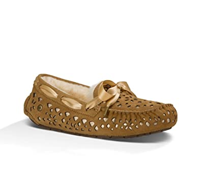 UGG Womens Dakota Flora Perf Slipper Chestnut Size 5