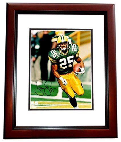 - Dorsey Levens Signed - Autographed Green Bay Packers 8x10 inch Photo MAHOGANY CUSTOM FRAME - Super Bowl XXXI Champion