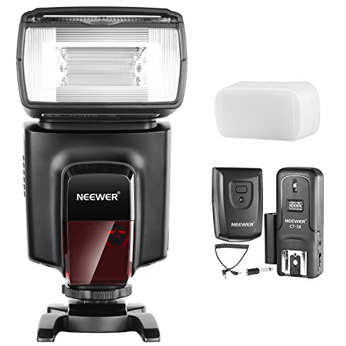 - Neewer TT560 Flash Speedlite with CT-16 Wireless Trigger and Hard Diffuser Kit for Canon Nikon Panasonic Olympus Pentax and Other DSLR Cameras