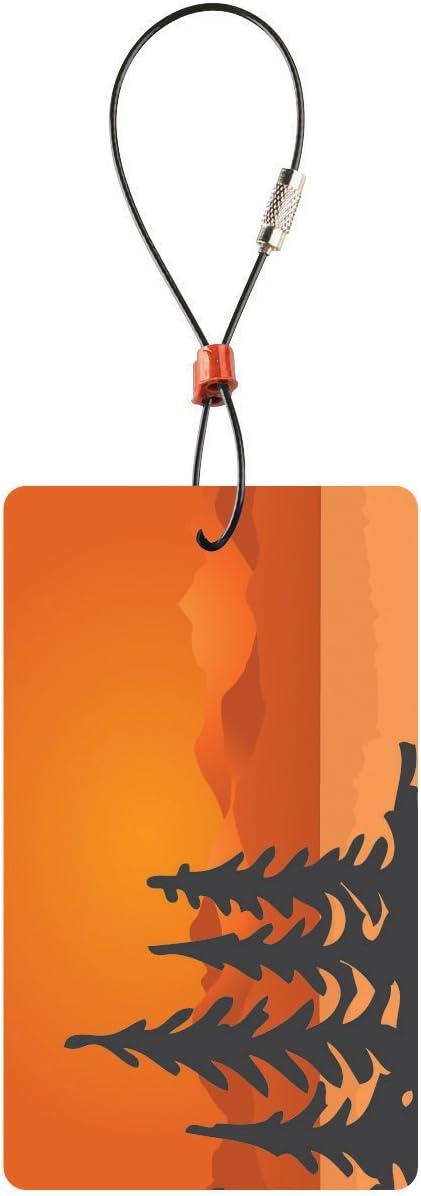 | Lewis N. Clark Travel Green Luggage Tag, Trees, Orange, One Size | Luggage Tags