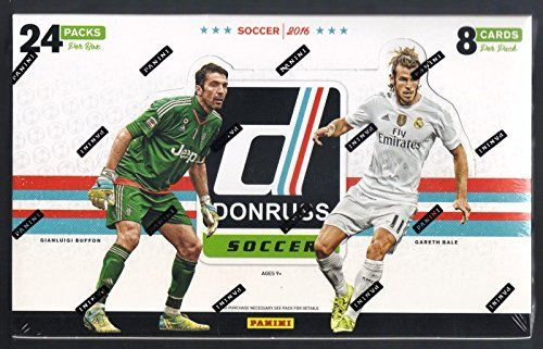 (2016 Panini Donruss Soccer Hobby Box (24 Packs of 8 Cards (24 Inserts, 24 Parallels) - 1 Autograph or Canvas Per Box)