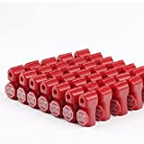 50pcs Red Retail Shop Security Display Hook Anti Sweep Theft Stop Lock 6mm
