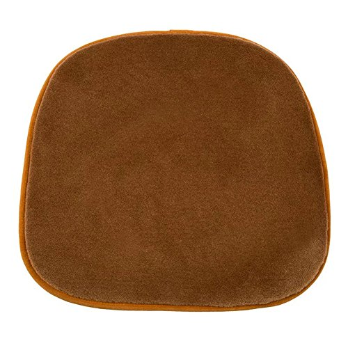 Universal Fit Car Seat Cover ,Chair Sofa Cushion Natural Wool Sheepskin Leather Shearling Seat Pad Cover for Auto, Car, Office, Kitchen, Travel, Home (Brown)