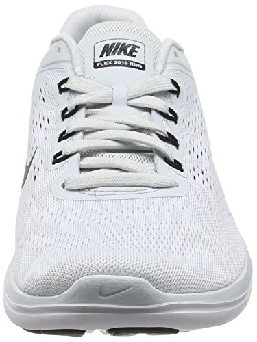 Nike Homme Flex Argent Run Platinum Pure White Black Running r6vx4nr