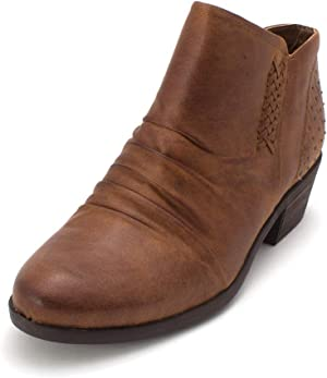 BareTraps Womens Gericka Faux Leather Studded Booties
