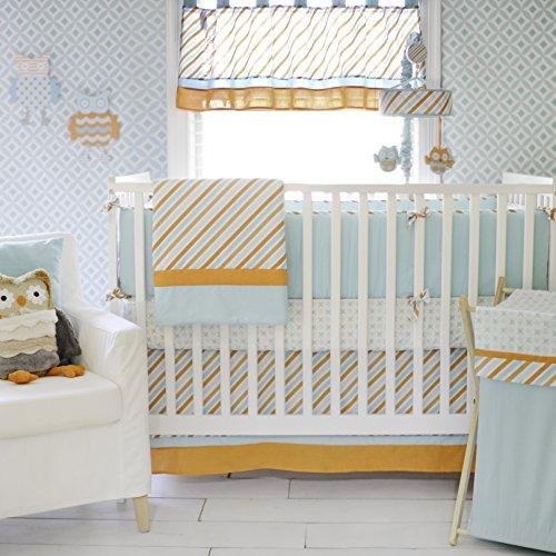 crib bumper aqua - 5