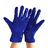 Haoohu Adult Child Costume Dress up Dance Sequin Gloves for Cosplay Party Halloween