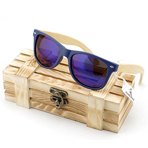 JapanX Bamboo Sunglasses & Wood Wooden Sunglasses for Men Women, Polarized Lenses Gift Box – Wooden Vintage Wayfarer Sunglasses - Bamboo Wood Wooden Frame – New Style Sunglasses (A2 - Newport Sunglasses Ri