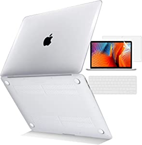 TOJIA Clear MacBook Air 13 inch Case 2017 2016 2015 2014 2013 2012 2011 2010 (Models: A1369 & A1466), Plastic Hard Shell Case & Keyboard Cover & Screen Protector for MacBook Air 13.3