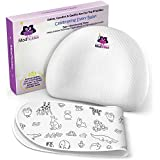 Baby Pillow for Head Shaping - Prevent Flat Head Syndrome - Head Support for Infants & Newborns - Memory Foam Baby Pillow - Keep Head Round & Avoid Flat Spots - Prevent Plagiocephaly - Bonus Bib Set