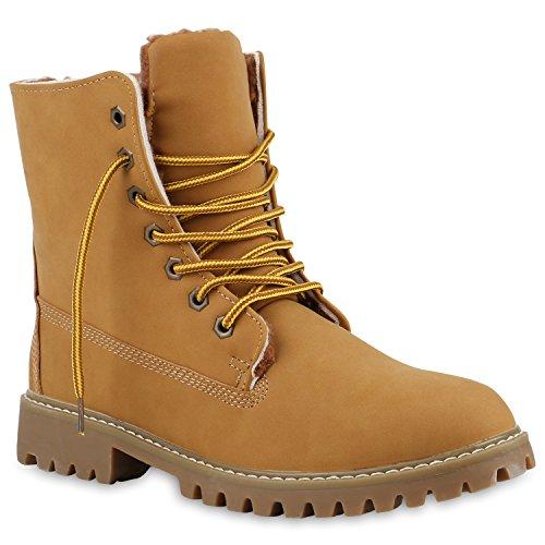 Stiefelparadies Herren Worker Boots Profilsohle Flandell Hellbraun Hellbraun Berkley