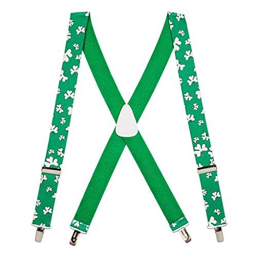SuspenderStore Men's Shamrock Suspenders -