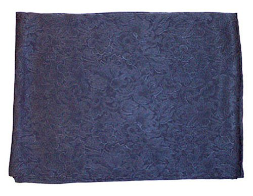 Wyoming Traders Mens Jacquard Silk Wild Rag Scarf Navy