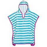 3C4G Kids Striped Terry Cotton Poncho Cover Up