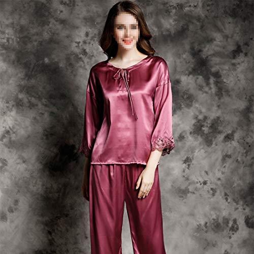 Mujer Para 03 Satén X Size Kervinzhang Ropa Xl Dormir Seda 02 De Pijamas Conjunto xxl Loungewear TwXwxnqfYR