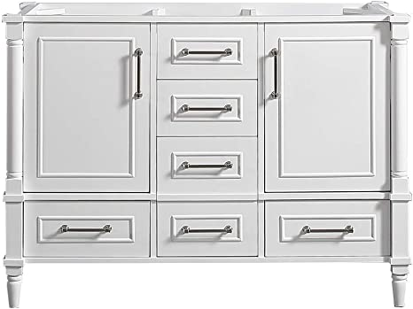 Amazon Com 48 X 22 Willow Collections Aberdeen Bathroom Vanity In White Cabinet Only Kitchen Dining
