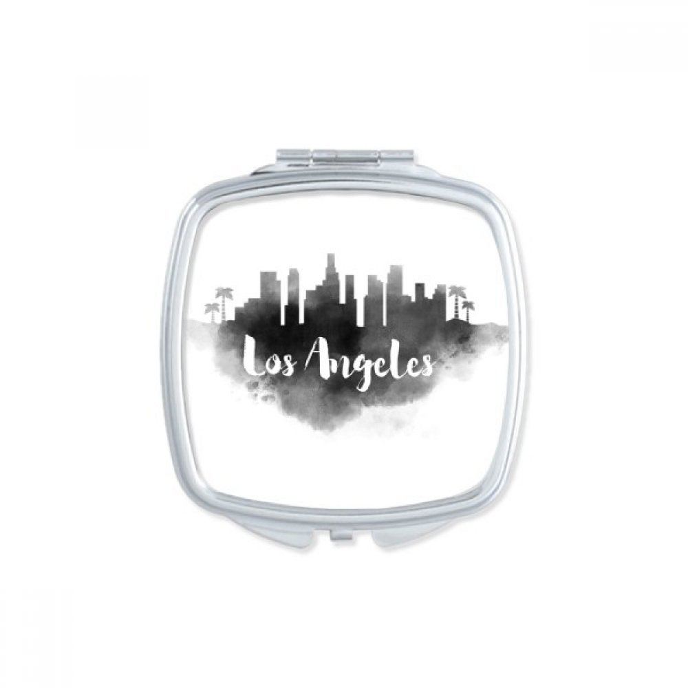 Los Angeles America Ink City Square Compact Makeup Pocket Mirror Portable Cute Small Hand Mirrors Gift