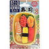 イワコー おもしろ消しゴム 出前寿司セット(桶はアソート) ER-BRI041 ブリスターパック37