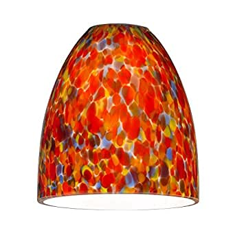 Bell Art Glass Shade - Lipless with 1-5/8-Inch Fitter