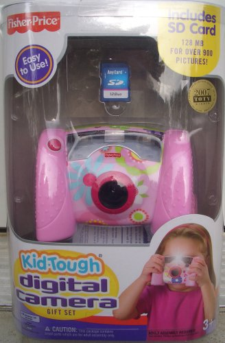 Fisher Price Kid Tough Digital Camera - Pink (New Version) Bonus 128mb Sd Card Mattel