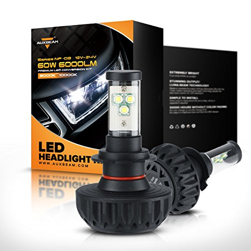 Auxbeam H7 PX26D LED Headlight Bulbs Conversion Kit with NF-03 Headlight Bulbs 60W 30W 6000lm CREE LED Chips Fog Light (Pack of 2)- 1 Year Warranty