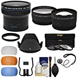 52mm Essentials Bundle with Fisheye + Tele/Wide-Angle Lenses + 3 Filters + Lens Hood + 3 Pop-Up Diffusers + Kit