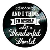 What A Wonderful World song lyrics on a Vinyl Record album Wall Decor